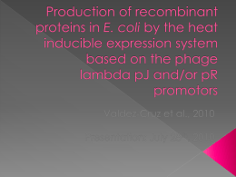 Heat induced expression system ppt