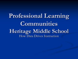 Analyzing Student Data Through PLC`s, Heritage MS