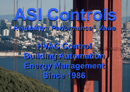 ASI Controls Sales Presentation