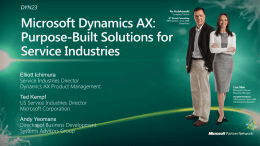 DYN23: Microsoft Dynamics AX: Purpose