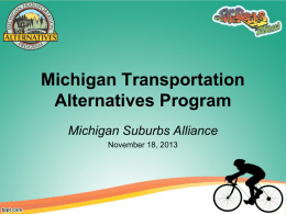 Presentation: Michigan Transportation Alternatives Program
