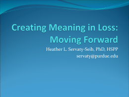 Creating Meaning from Loss