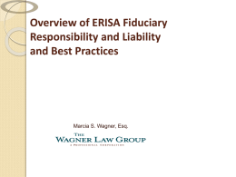ERISA Section 408(b)(2) Fee Disclosures