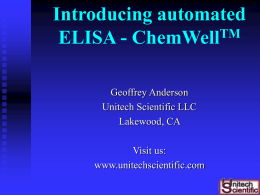 ChemWell ELISA Analysis