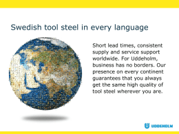 Swedish tool steel in every language