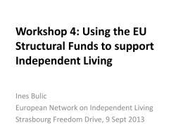 Presentation - ENIL – European Network on Independent Living