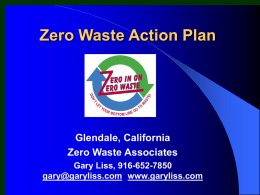 Zero Waste Action Plan - Earth Resource Foundation