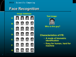 Slides of PCA for face recognition