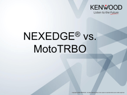 NEXEDGE and MOTOTRBO