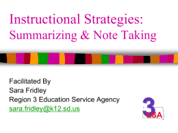 Summarizing & Note Taking PPT