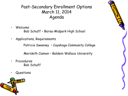 PowerPoint from Meeting - Berea City School District