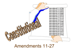 Amendments 11 - 27 ppt