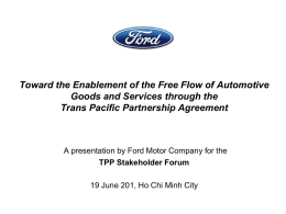 John F.Kwan - free flow of automative goods n