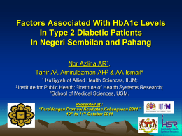 Factors Associated With HbA1c Levels In Type 2 Diabetic