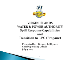 WATER & POWER AUTHORITY Spill Response Capabilities and