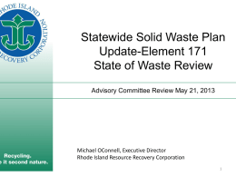 rhode island resource recovery corporation: an overview for police