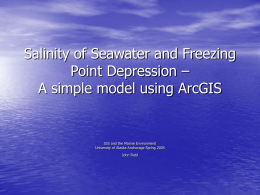 Salinity of Seawater and Freezing Point Depression