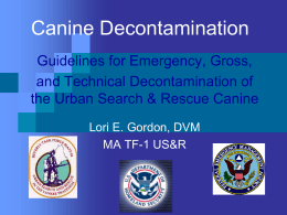 Canine Decontamination Lecture