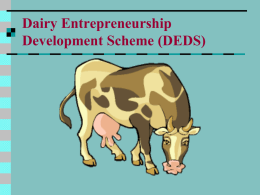 """Venture Capital Fund for Dairy & Poultry Sectors"""