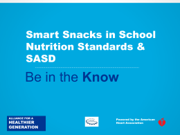 Smart Snacks Preview