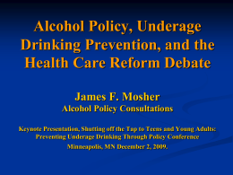 PowerPoint - Alcohol Policy Consultant
