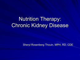 Renal Nutrition Therapy