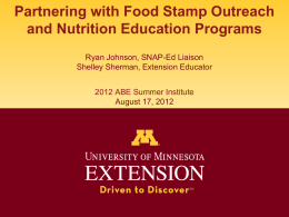 Food Stamp and Nutrition Powerpoint