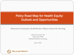 Policy Road Map for Health Equity: Outlook and