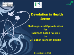 Challenges and Opportunities in Health