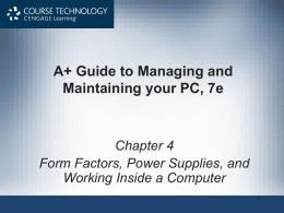 Chapter 4 - Power Supplies