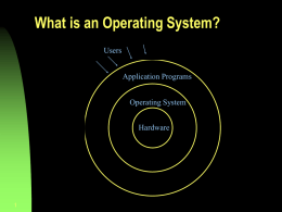 Computer Systems Overview
