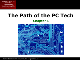 The Path of the PC Tech