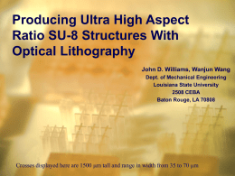 UV lithography process for ultra-thick high aspect-ratio SU