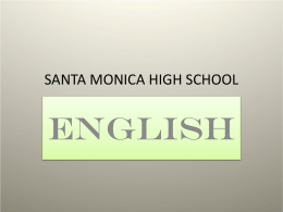 PowerPoint Presentation - SANTA MONICA HIGH SCHOOL