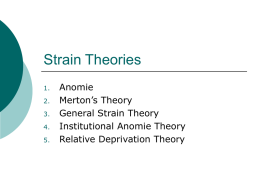 Strain Theories continued
