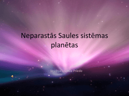 "Presentation with drawings ""Extraordinary Solar system planets"""