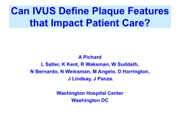 Can IVUS Define Plaque Features that Impact Patient Care?