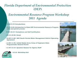 How to fill out application - Florida Department of Environmental