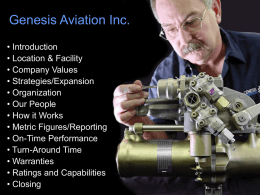 Genesis Aviation Inc.