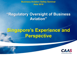 Regulatory Oversight of Business Aviation