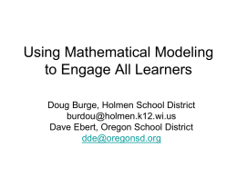 Using Mathematical Modeling to Engage All Learners