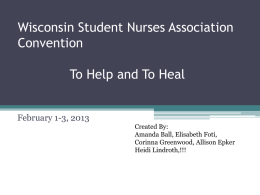 Wisconsin Student Nurses Association Convention