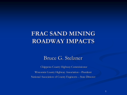 frac sand mining roadway impacts