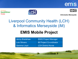 LCH EMIS Mobile Project