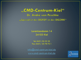 Originalvortrag - CMD Centrum Kiel