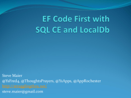 EF Code First with SQL CE and LocalDb