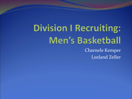 Division I Recruiting: Men`s Basketball