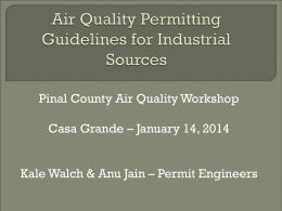 Air Quality Permits and Revisions for Industrial Sources