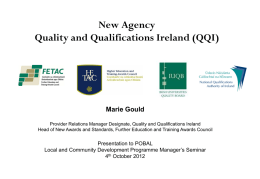LCDP Goal 2 Support Event_Marie Gould QQI Presentation