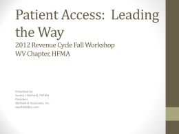 Patient Access and MSP